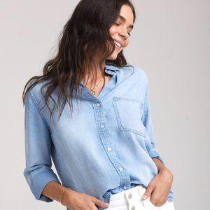 Bella Dahl   Shirt Tail Chambray Button Down Shirt